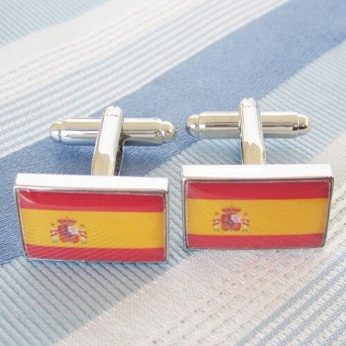 Spanje Vlag Manchetknopen 15 Paar Groothandel Gratis Verzending-in Stropdasklemmen & Machetknopen van Sieraden & accessoires op  Groep 1