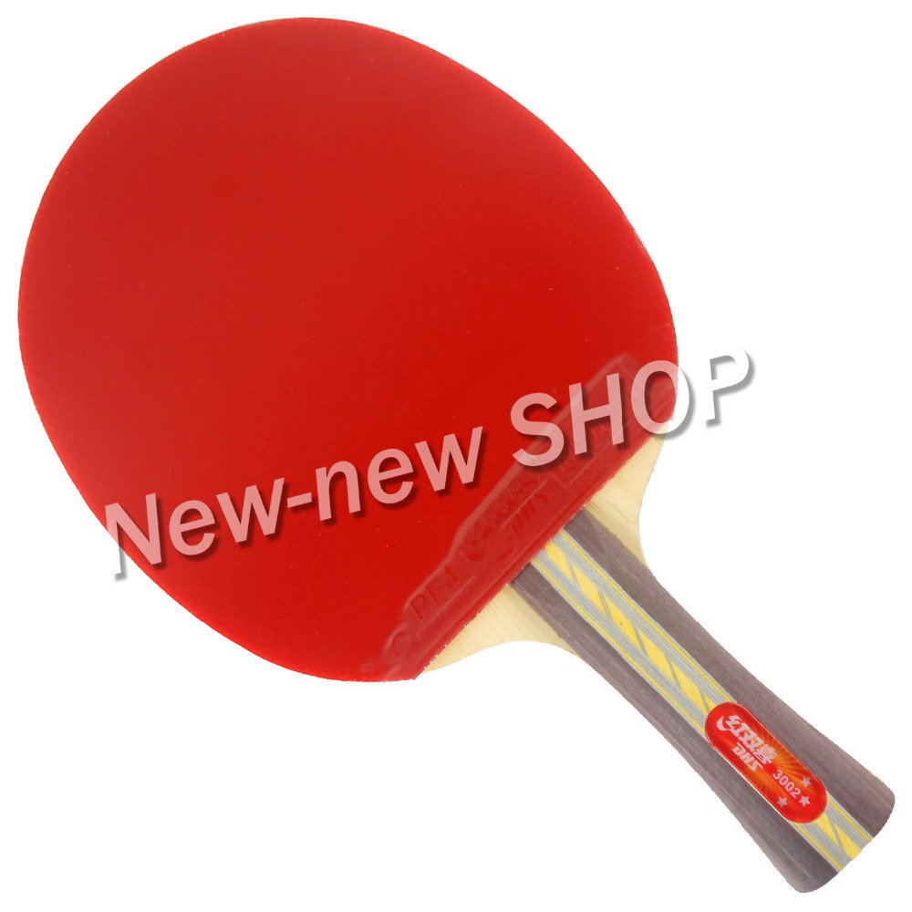DHS 3002 Long Shakehand FL Table Tennis Ping Pong Paddle Racket shakehandLong Handle FL набор для пинг понга dhs 3006 3002 3006x 3002