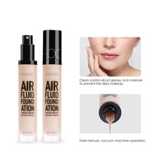 FOCALLURE New AIR FLUID FOUNDATION Professional Cosmetic Moisturizing Foundation Base Long Lasting Waterproof Women Makeup