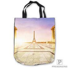 c223e2029e3cf Niestandardowe płótno France_Sky_ParisTote na zakupy na ramię torba na co  dzień torebka plażowa codziennego użytku składane