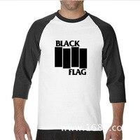2017 Various Colors Funny Cotton Black Flag Funny Raglan Sleeve T Shirt Men