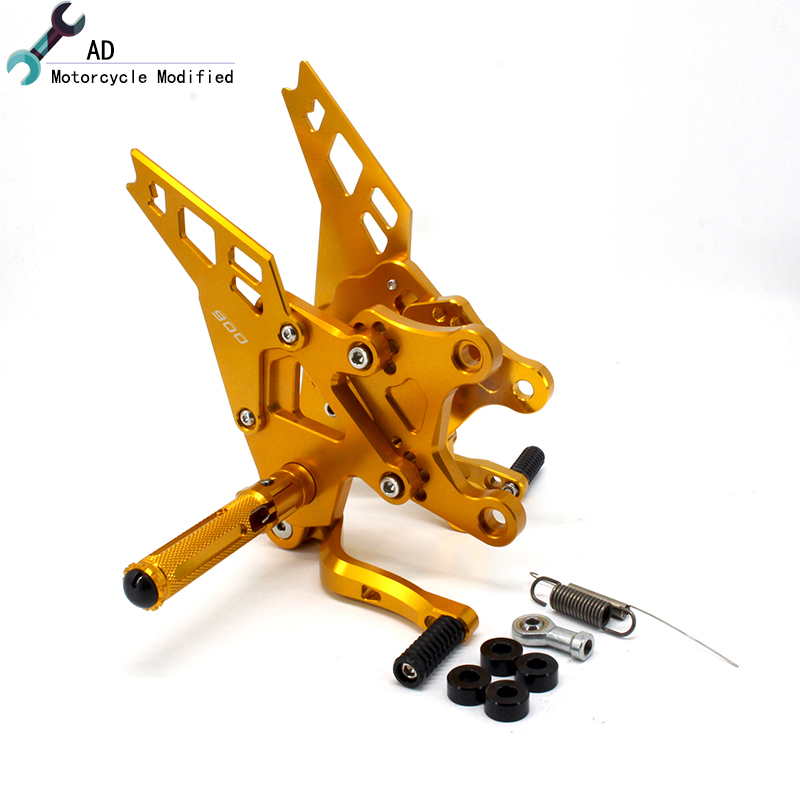 Z 900 2017 Motorcycle CNC Aluminum Adjustable Rearset Foot Pegs Footrest Rear Sets For Kawasaki Moto Z900 17 Accessories ! fit for kawasaki z900 z 900 2017 motorcycle cnc aluminum rear axle spindle chain adjuster blocks and spool sliders