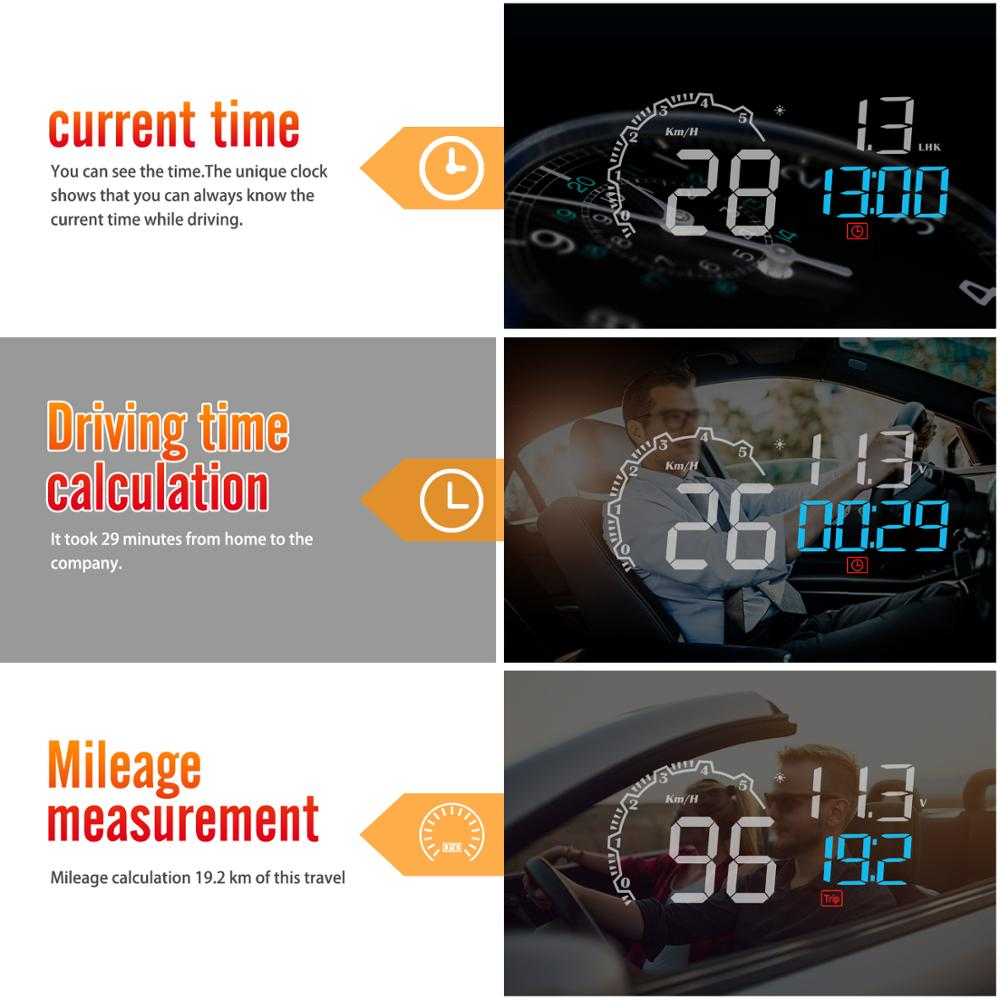 Image 3 - GEYIREN New Arrival Mirror HUD C600 Car Head up display Windshield Speed Projector Security Alarm Overspeed RPM Voltage-in Head-up Display from Automobiles & Motorcycles