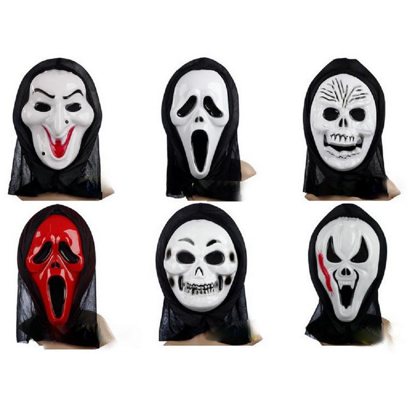 pcs srie assustador mscaras mscaras de halloween mscara filme cosplay masquerade prop pvc completa rosto