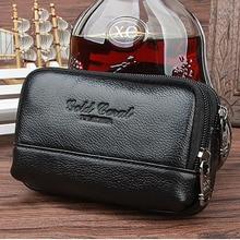 Men Genuine Leather Cell/Mobile Phone Cigarette Case Belt Purse Organizer Wallet Coin Hip Bum Waist Pack Clutch Fanny Bags New