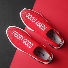 Hot Sale Fashion Men Walking Shoes  Weaving Fly Mesh Breathable Light Soft Slipon Mens Shoe Male Trainers Sneakers Human Race
