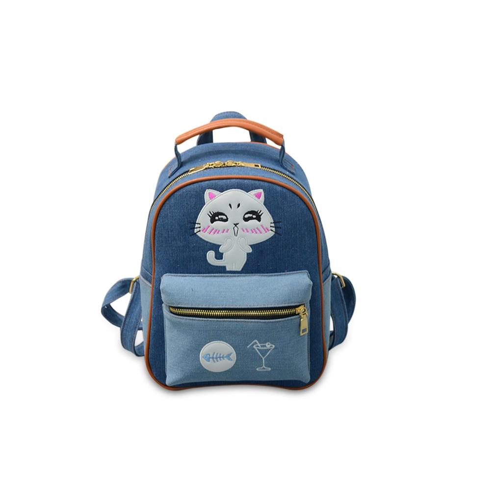 4171 P eric frauen leinwand rucksack adrette schultasche Dame studentin schule laptop-tasche