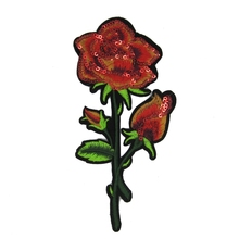 Beautiful Rose Flower Floral Collar Iron On Patch Applique Badge Embroidered Bust Dress Handmade Craft Ornament Fabric Sticker