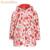 2017 Primavera Meninas Morango Imprimir Jaquetas Casacos Crianças Velo Blusão Quente Baby Girl Crianças Capa de Chuva Capa À Prova D' Água Outerwear