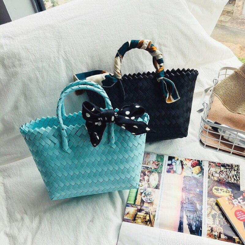 2019 nouveau sac de femmes tissé sac web célébrité avec le même panier de bonbons sac à main sac de voyage de plage