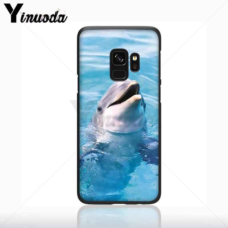 Yinuoda ダンスイルカの TPU ソフトシリコン黒電話ケース s9 s8 プラス注 9 s10plus note5 携帯カバー
