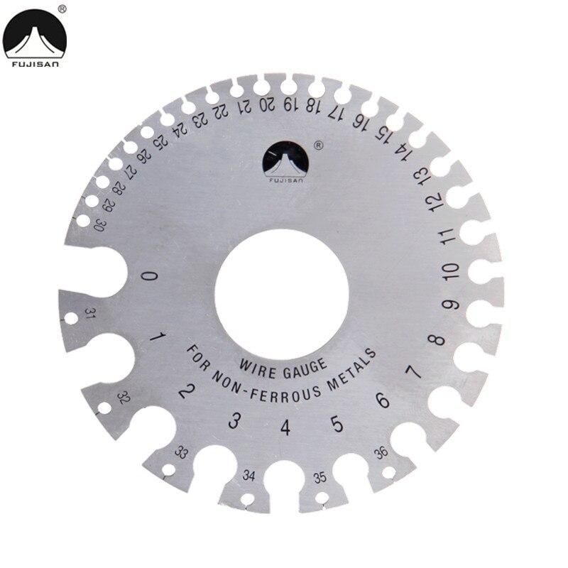 FUJISJAN Round Wire Gauge 0-36 Diameter Gage Welding Inspection Gauges Inch A.W.G. Laser Marking