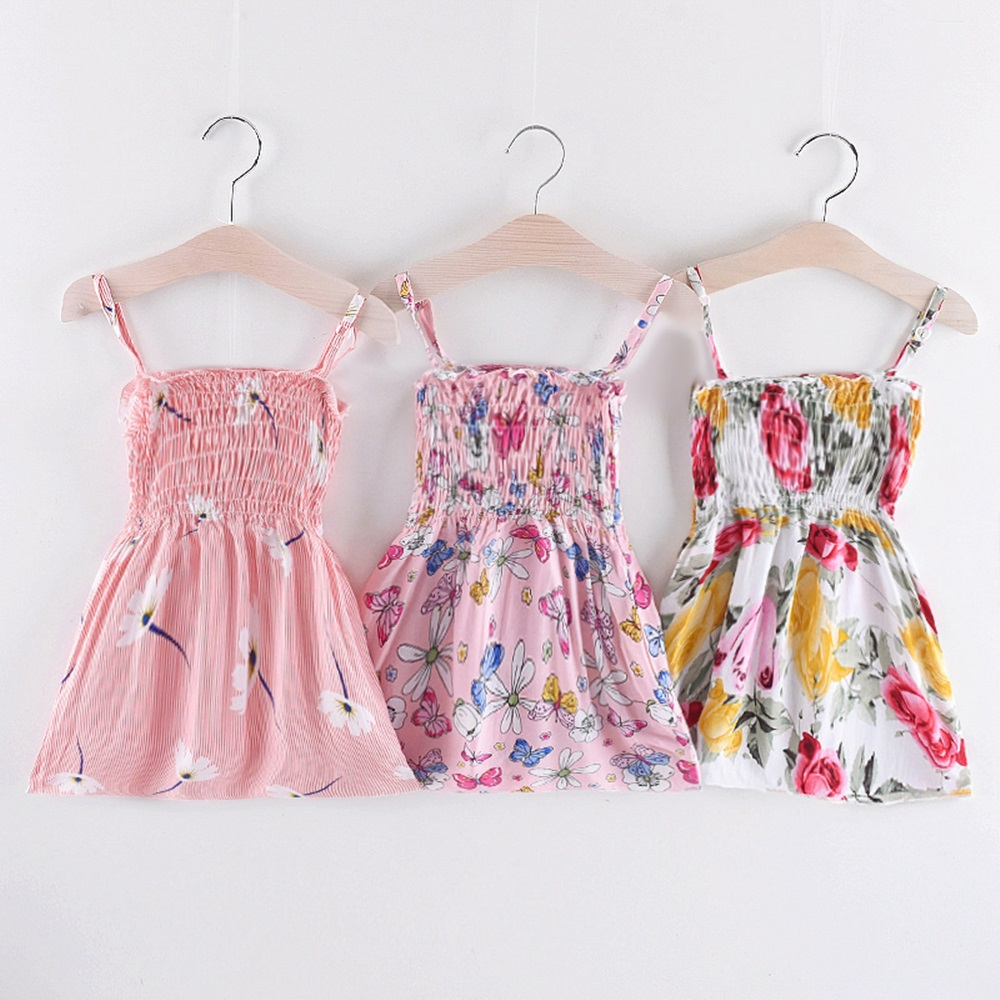 New Summer 2019 Girls Dresses Sleeveless Vestidos A-Line Print Cotton Children Clothes Baby Girl Princess Dress Dropshipping
