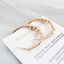 New Gold Color Bead Hoop Earrings for Women Exaggerates Oversize Circle Ear Rings Earrings Fashion Europe Punk Nightclub Jewelry недорого