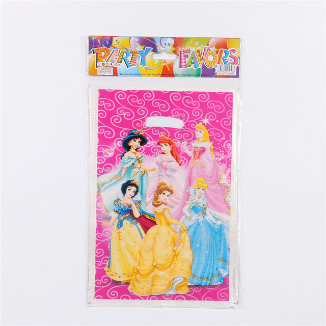 10pcs Lot Pink 6 Design Princess Gift Gag Party Supplies Kids Birthday Candy