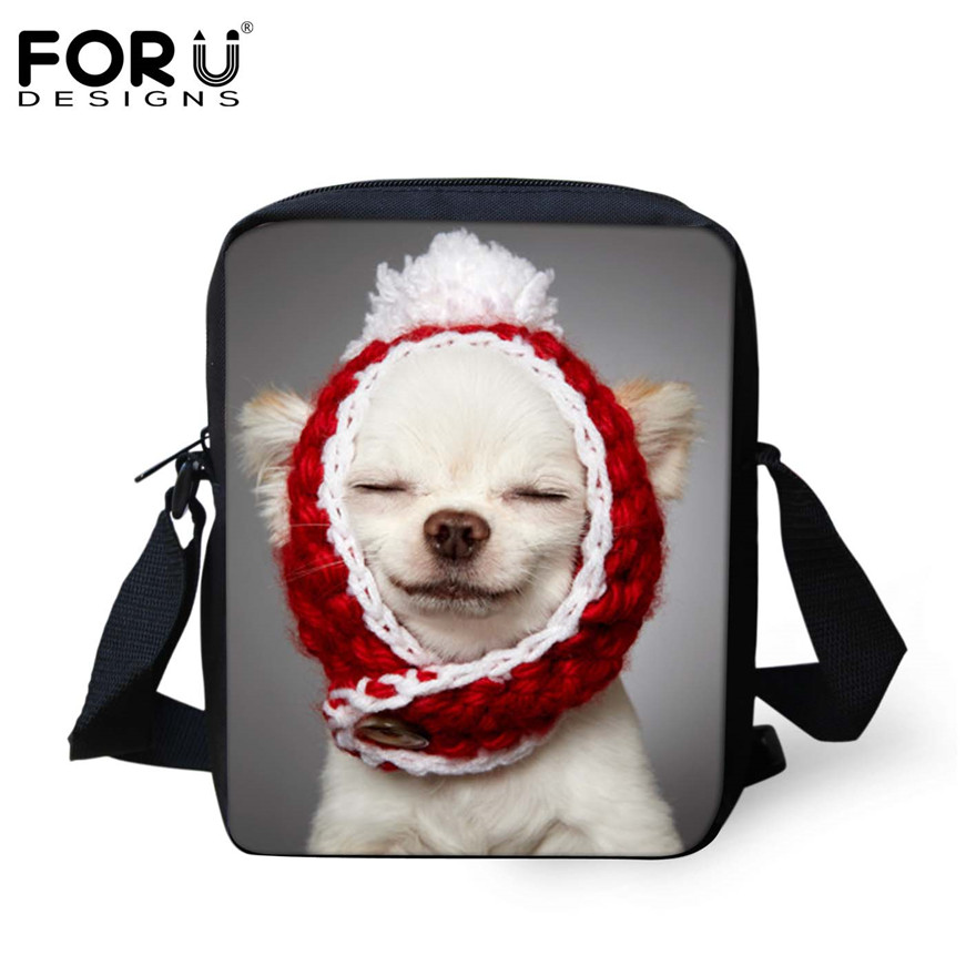 FORUDESIGNS/женская маленькая сумка через плечо с объемным рисунком собаки чихуахуа, модные женские сумки-мессенджеры, сумки через плечо - Цвет: H801E