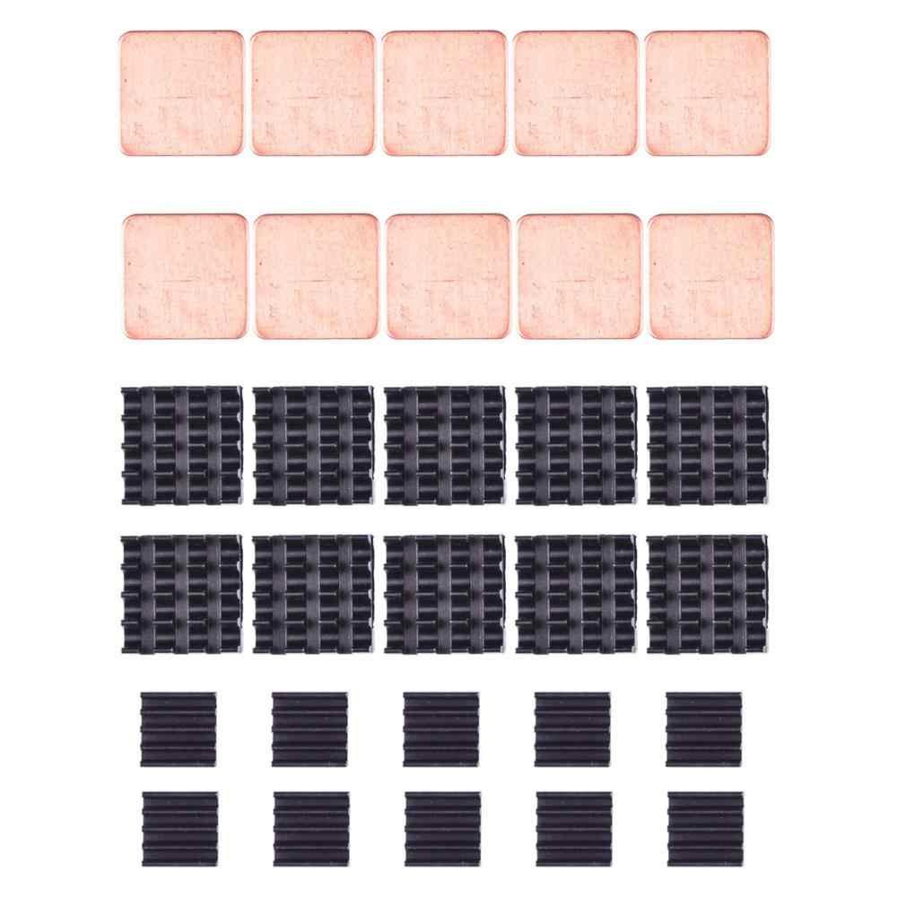 30 個ラズベリーパイヒートシンクキットアルミ銅 + 3 メートル熱伝導性粘着テープのための冷却クーラーラズベリーパイ 3 B + パイ 3