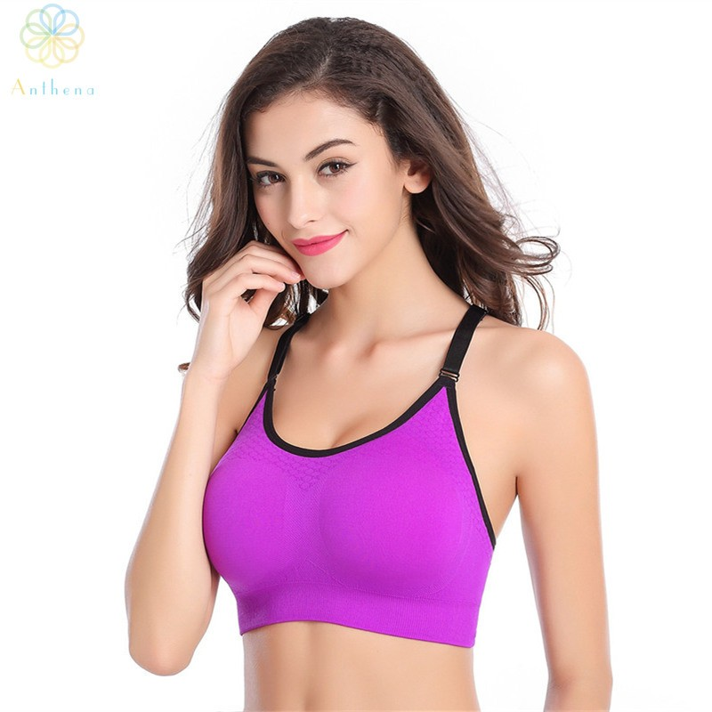 85338d64da 2016 Women Adjustable Nylon Spandex Sports Bra Fitness Underwear Yoga  Bralette Running Gym Sexy Dew Back Push Up Shaper Bra