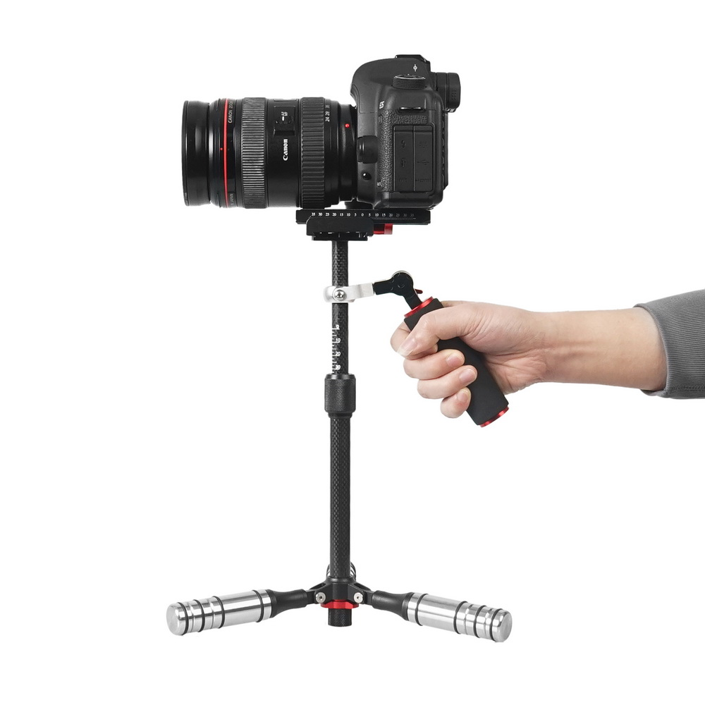 Selens Mini Handheld Stabilizer Carbon Fiber steadicam for DSLR Video Camera Portable light Steady cam Better than S40 S60T handheld camcorder stabilizer s60t carbon fiber steady stabilizer for canon professional camera stable device