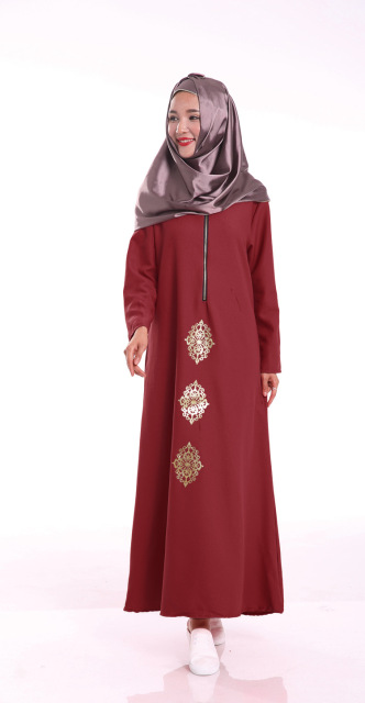 Fashion Muslim girl long dress turkish women clothing  plus size dubai arab djellaba