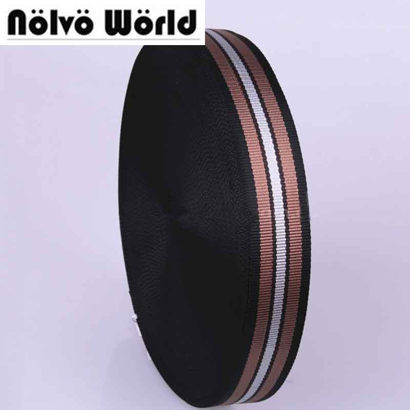 38mm 1.5 wide 1.5mm thick Eco-Friendly multi color strips nylon for DIY dog collar strap hand bags webbing on sale