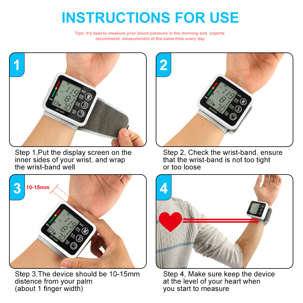 how to use electronic blood pressure