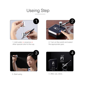 Image 5 - Airbrush With Compressor Pro Aerografo For Nails,Face Paint,Body Paint With Henna Tattoo Stencils(Freebie)