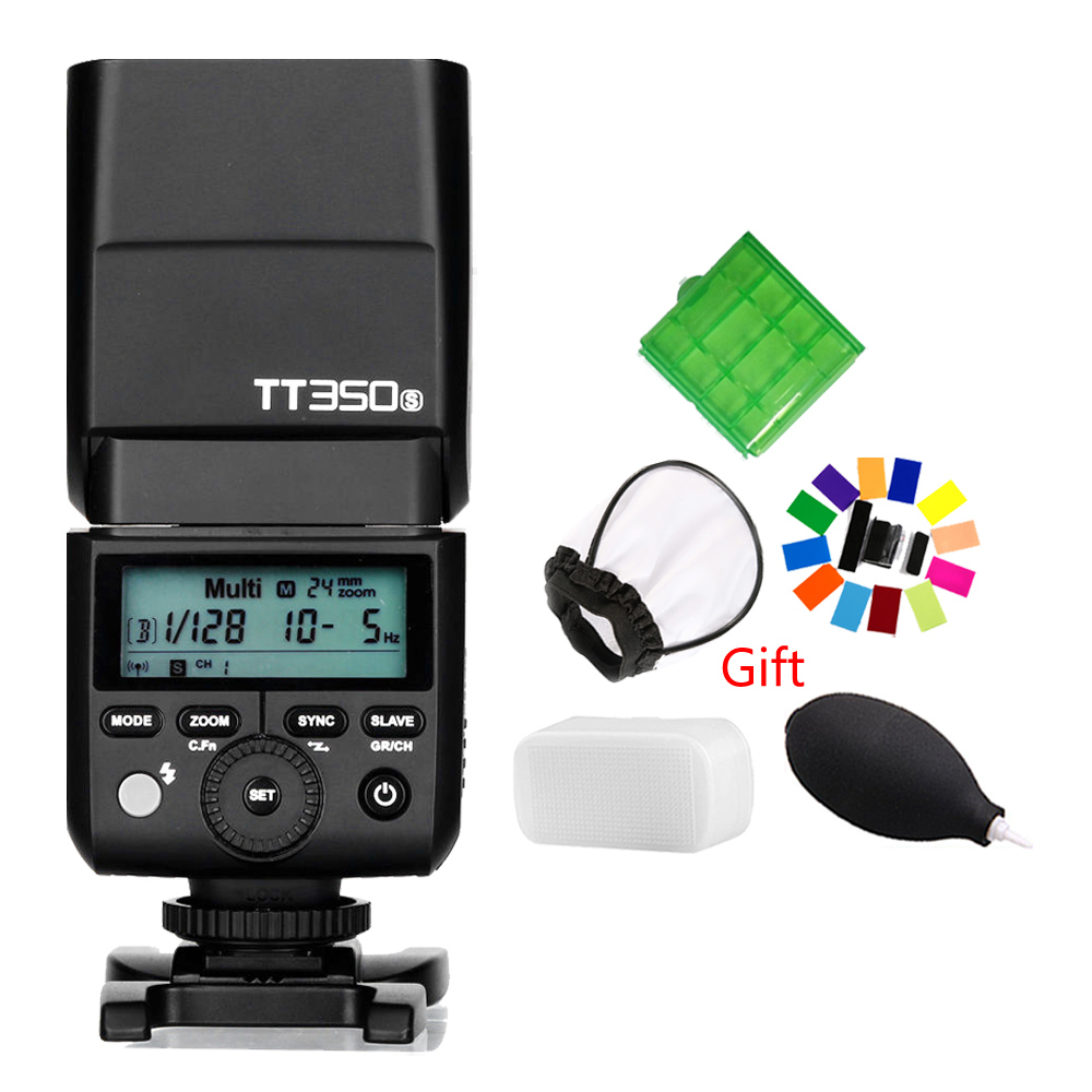 Godox Mini Speedlite TT350S Camera Flash TTL HSS GN36 for Sony Mirrorless DSLR Camera A7 A6000 A6500 godox mini speedlite tt350s tt350n tt350c tt350o camera flash ttl hss for sony mirrorless dslr camera a7s a6000 a6500 series