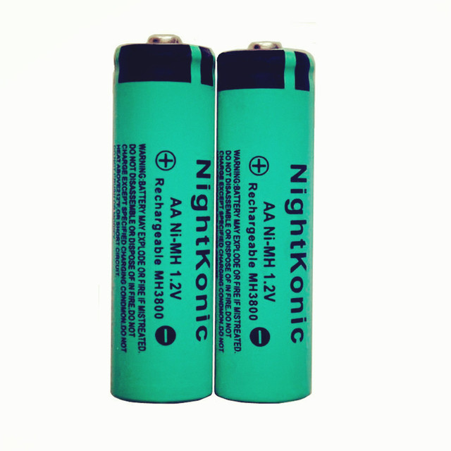10 PCS/LOT aa battery  NightKonic 1.2V NI-MH AA Rechargeable Battery