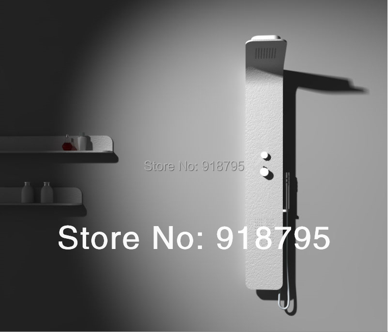 Thermostatic Solid surface stone shower panel wall mounted shower column Body massage Jets Sprinkler RS0045