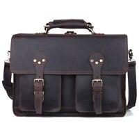 2017 Handmade Men 16 Laptop Bag Leather Handbags Designers Brand High Quality Large Italian Carry On