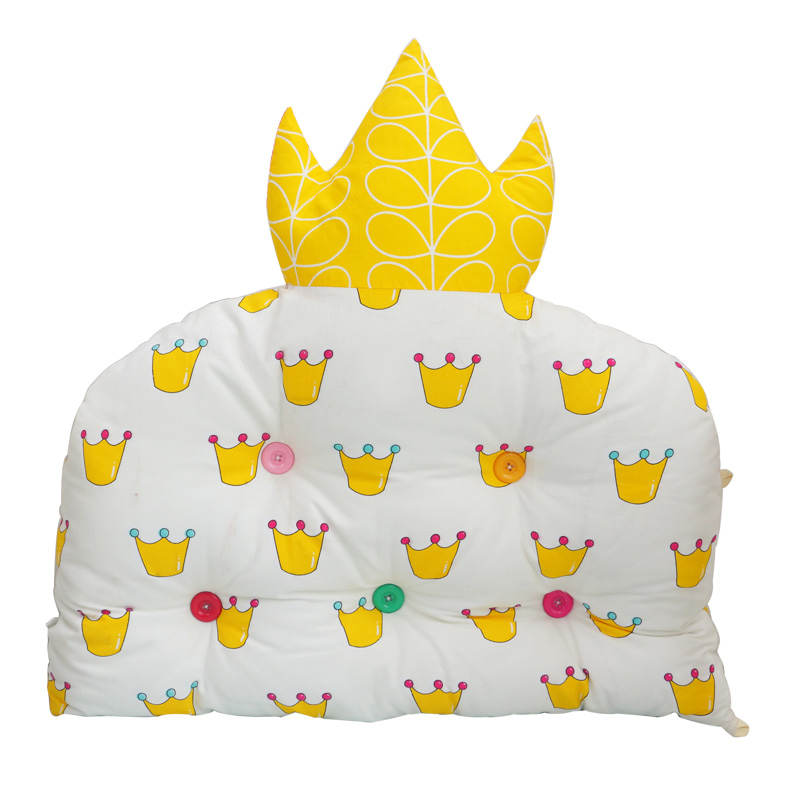 1 PC Crown Shaped Thick Cotton Baby Head Protector Infant Cot Crib Bumper Baby Bed Bumper Baby Head Protection Backrest, 3 sizes