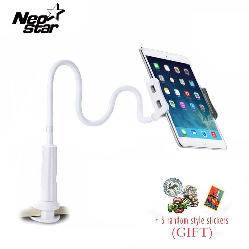 Escritorio Flexible teléfono Tablet soporte para iPad Mini Samsung para Iphone 3,5-10,5 pulgadas perezoso cama Tablet PC está montaje