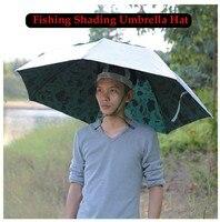 1 Adet Kamuflaj Üç Katlanır Büyük Balıkçılık Kap Gölgeleme Güneş geçirmez Balık Şemsiye Şapka Açık Spor Giyim Açık Çapı 100 cm