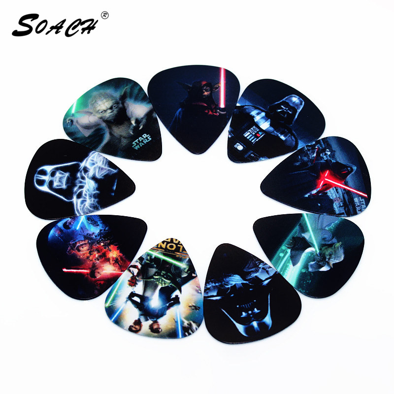SOACH 10pcs Guitar Picks Lot 0.71mm thickness high-quality Bass guitar picks Guitarra Plectrums Accessories instrumento Musical