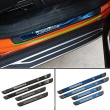 Накладка на порог двери автомобиля для Jeep Renegade- Защитная крышка для входа внешняя отделка порога двери автомобиля