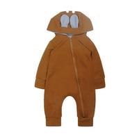 Newborn Romper Zipper 2018 Tiny Cottons Autumn Long Sleeve Girl Boy Clothes Cute Winter Hooded Jumpsuit