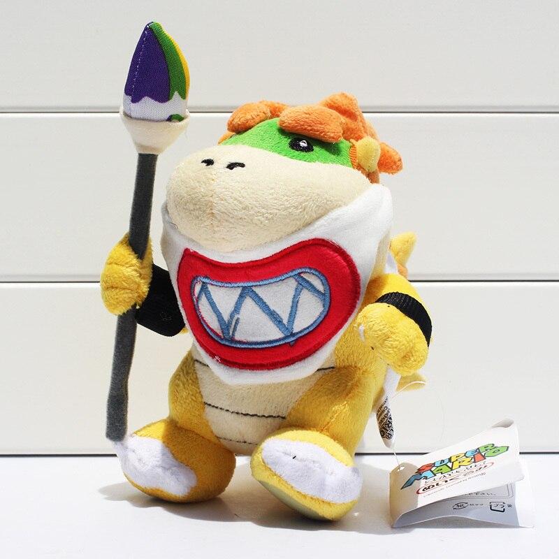 EMS 100pcs/lot Super Mario Bowser JR Plush Toy With Tag Stuffed Dolls 17cm Wholesale