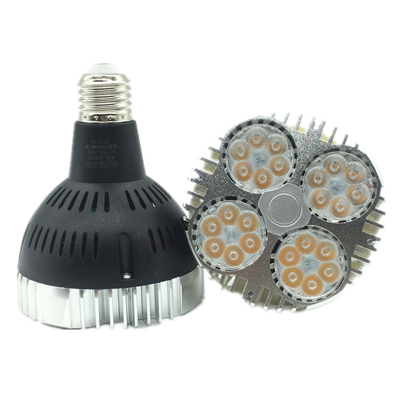 35W <font><b>E27</b></font> <font><b>Par30</b></font> LED Bulb lamp fan inside 85-265V Warm White/Cold White LED spot light Par 30 <font><b>E27</b></font> led lighting 1pc free ship image