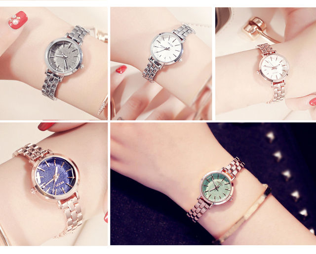 KEZZI Famous Brand Quartz Watch Women Full Stainless Steel Wristwatches Ladies Dress Rhinestone Bracelet Watch Montre Femme Gift