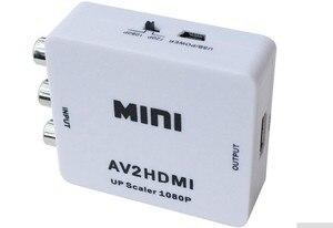 Конвертер сигнала RCA в HDMI, AV в HDMI, 1080P, AV2HDMI Mini, AV в HDMI, для ТВ, VHS, VCR,DVD-записей, чипсет, AV2HDMI