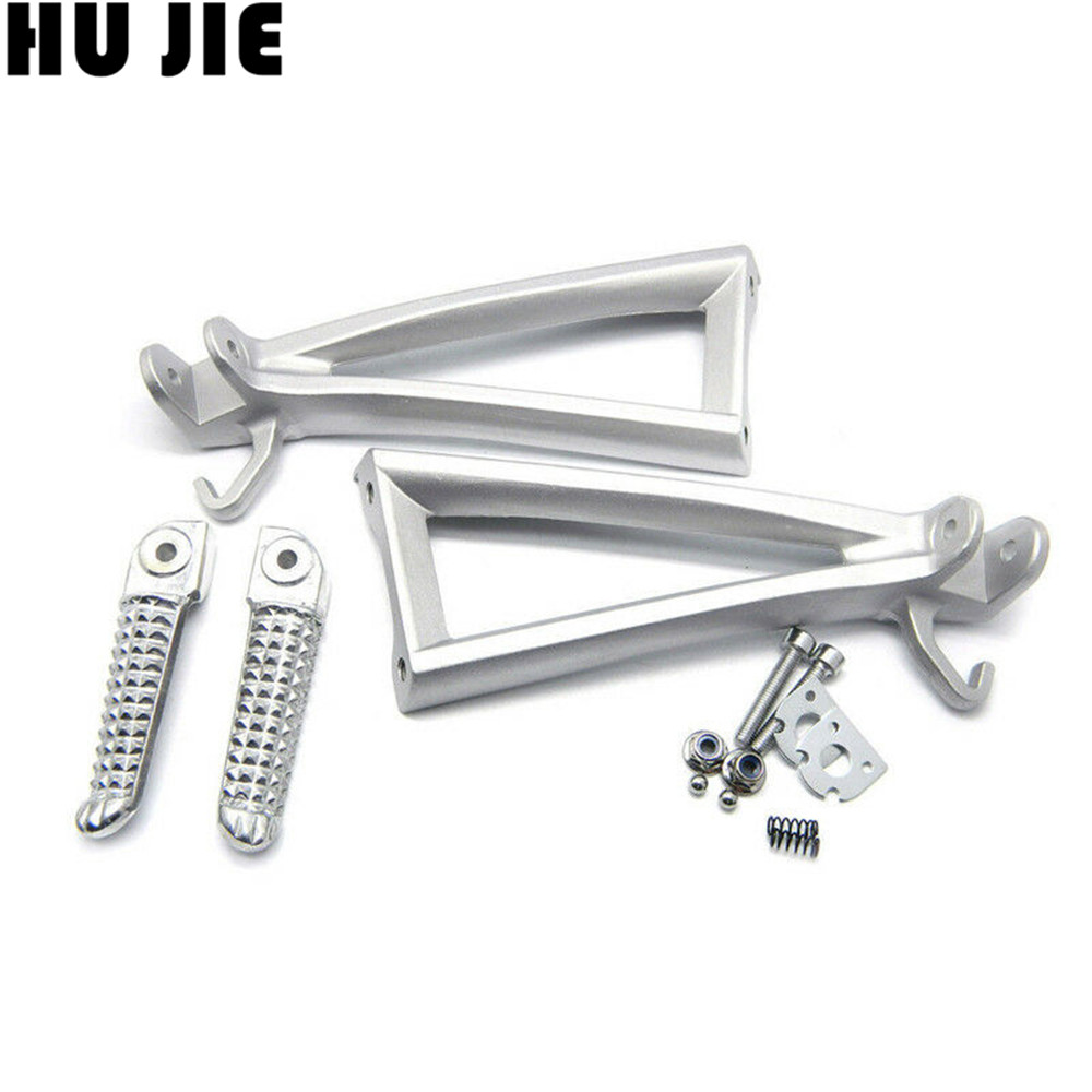 Rear Footrests For Yamaha YZF R6 YZF-R6 2006-2014 Motorcycle Passenger Foot Pegs Pedal Brackets YZF-R6 YZFR6