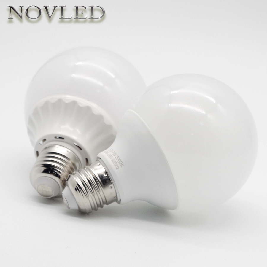 LED Bulb Modern Design G80 G95 G120 E27 AC 110V 220V Ball Shape LED Light 7W 9W 20W Chandelier Lighting Energy Saving Lamps