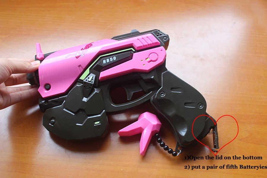 Orologio Più di D. va Pistola Cuffia per Cosplay Arma Hana Canzone D VA Prop Pistola Auricolare Accessori per Regalo di Natale Di Halloween DVA