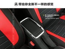 Автомобиль-Стайлинг чехол для peugeot 2008 2014 2015 2016 высокое качество! Хром Интерьер коробка для хранения ручка украшения отделка подлокотник коробка