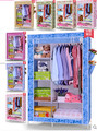 Portable Folding Clothes Wardrobe Closet Hanger Home Furniture Hot Hs-12