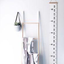 Детская линейка роста подвесная диаграмма роста высоты с деревянной рамой холст ткань для детей высота запись украшения