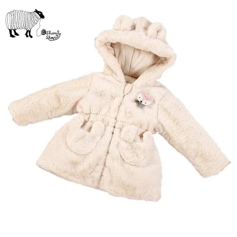Newborn Baby Girl Cute Rabbit Ears Cotton Hoodie Coat Outerwear Autumn Winter Toddler Infant Girl Jacket Coat Costume Clothes free shipping children outerwear baby girl clothes baby born costume fleece topolino cute toddler girl clothes cheap baby cloth
