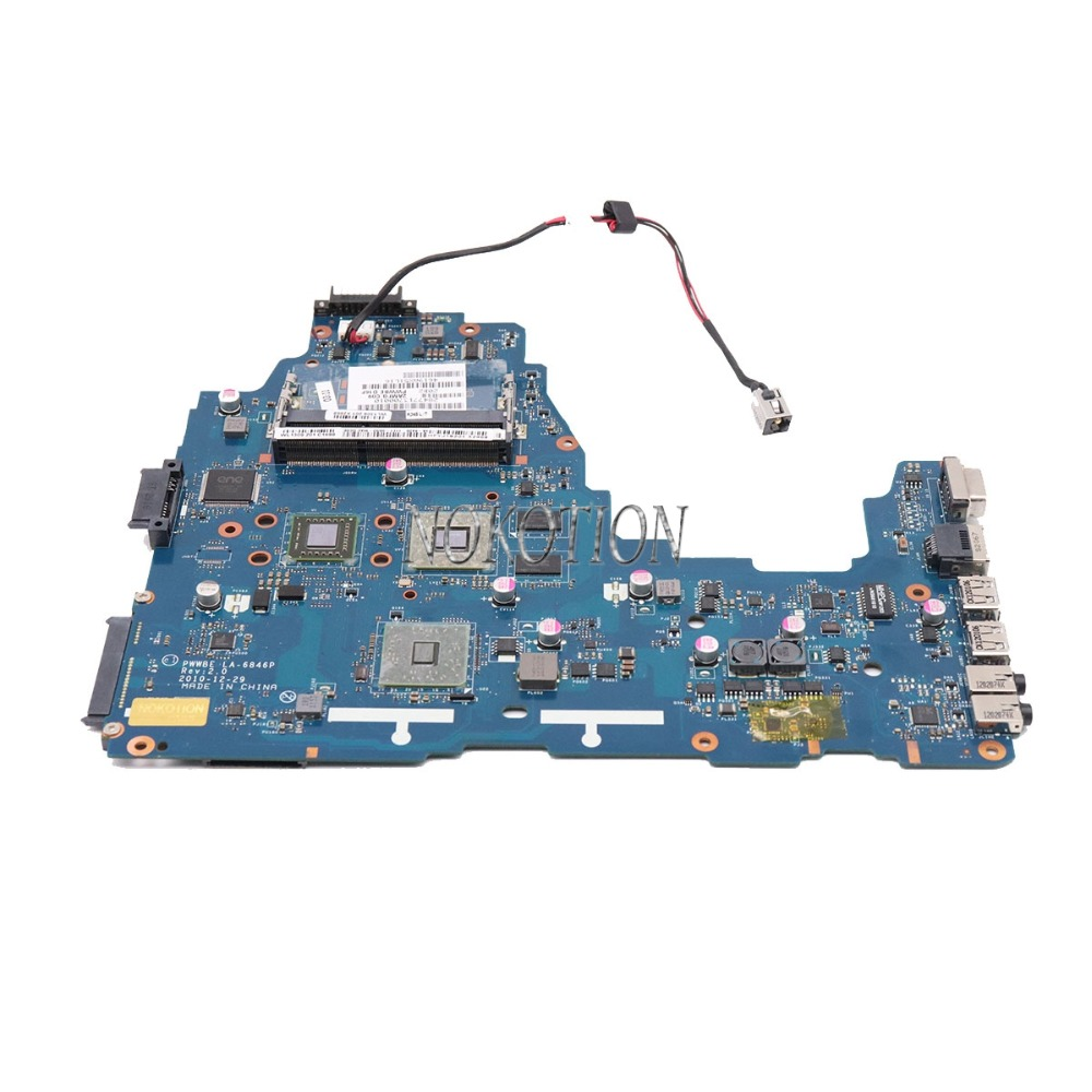 NOKOTION PWWBE LA-6846P Rev 2.0 MB K000124450 Laptop Motherboard for toshiba satellite C660 C660D EME250 CPU DDR3 Main board wholesale k000111550 la 6843p for toshiba satellite c660 c660d laptop motherboard 100% work perfect