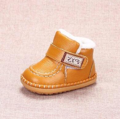 Soft bottom toddler shoes boys and girls baby shoes russia winter baby snow boots children Genuine Leather kids boots 11.5~15cm